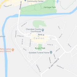 Canton, Georgia Map