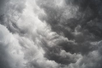 Gray stormy sky